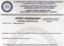 HYGIENIC CERTIFACATE POLAND